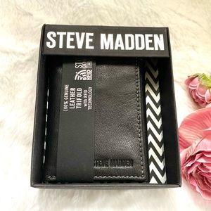 Steve Madden Black Leather Wallet NWT
